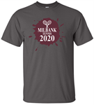 Charcoal Milbank Tennis Adult & Youth Short Sleeve Cotton Tee  Milbank Tennis Adult & Youth Short Sleeve Cotton Tee