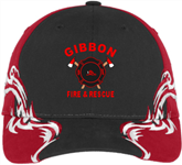Colorblock Racing Cap with Flames GFR Colorblock Racing Cap with Flames GFR