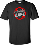 Firefighter Wife T-shirt GLITTER DESIGN PFD Firefighter Wife Tee