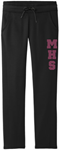 Ladies Moisture Wicking Sweatpants with Glitter design Ladies Moisture Wicking Sweatpants